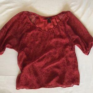 Flowy print blouse